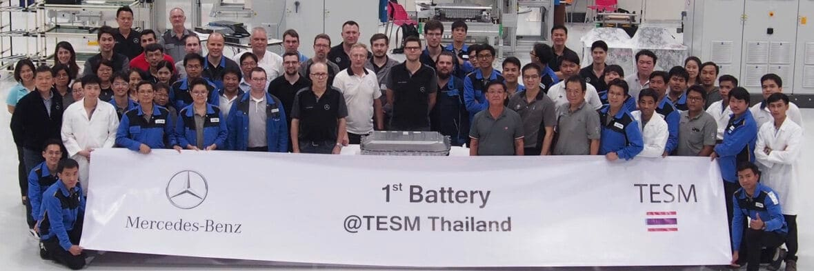 Mercedes Benz Starts Battery Production in Thailand