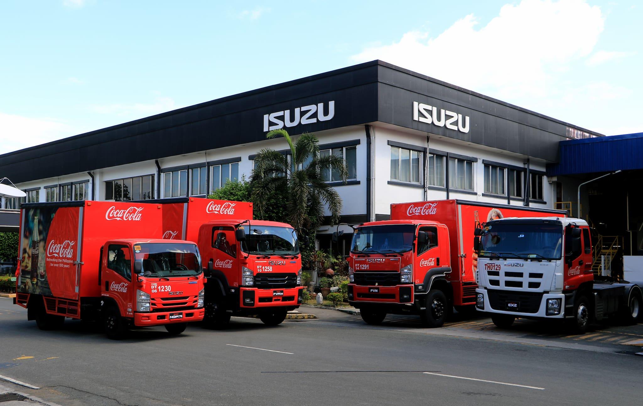Isuzu PH inks strong partnership with Coca-Cola, provides additional truck fleet