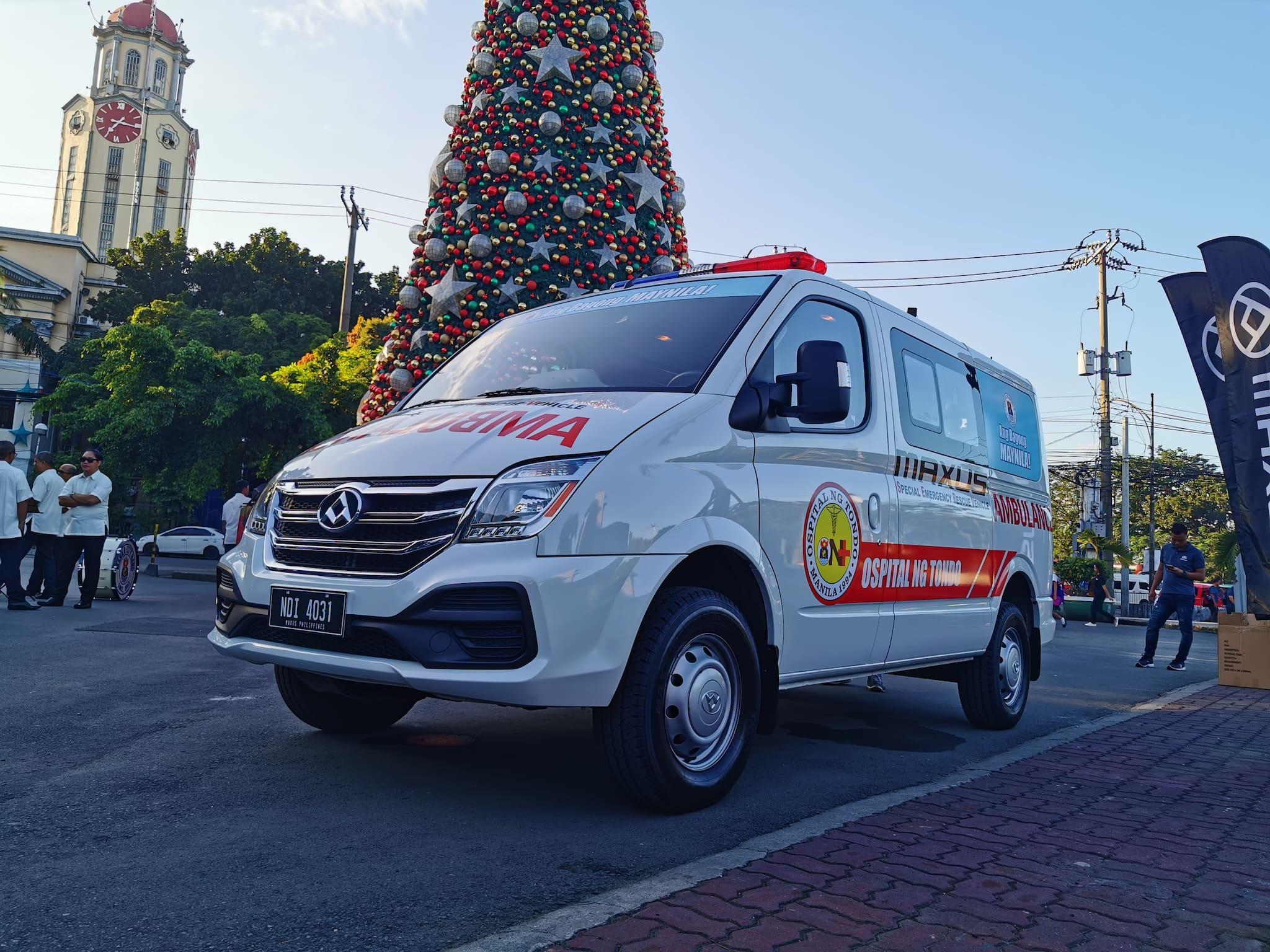 Manila\'s \'Yorme\' receives new V80 Flex Ambulance from Maxus PH