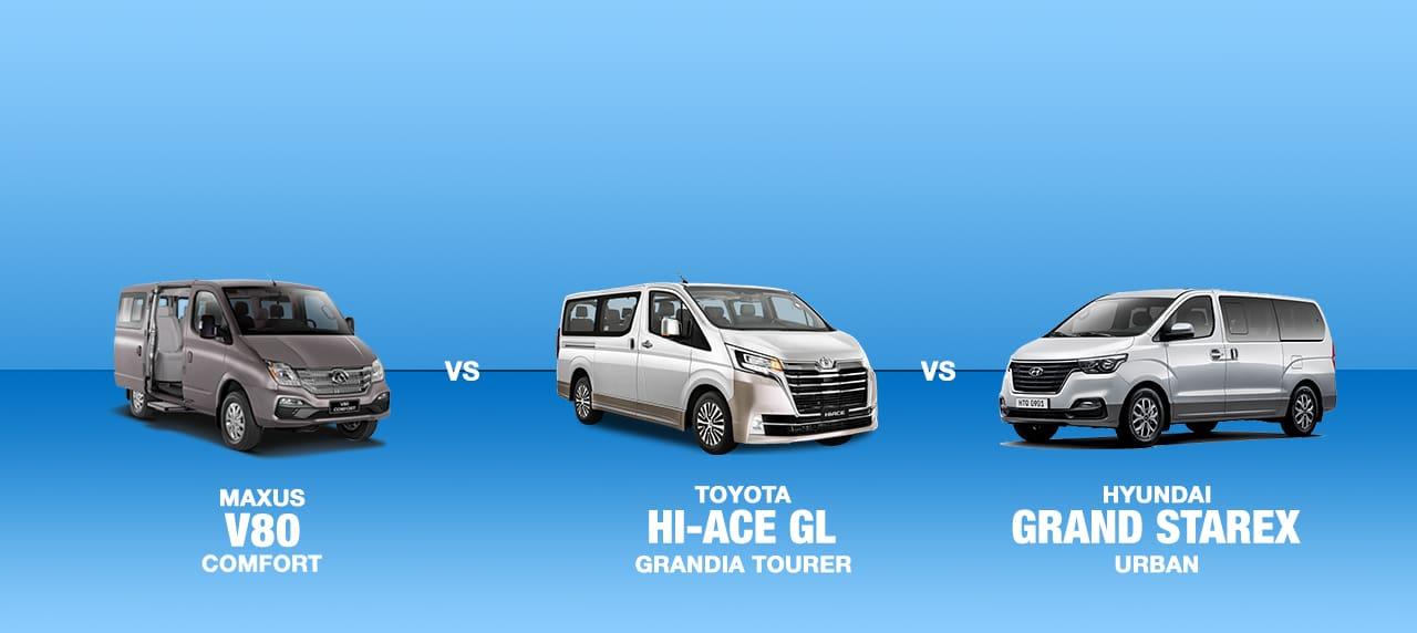 Car Comparison: Starex vs. V80 vs. Grandia Tourer