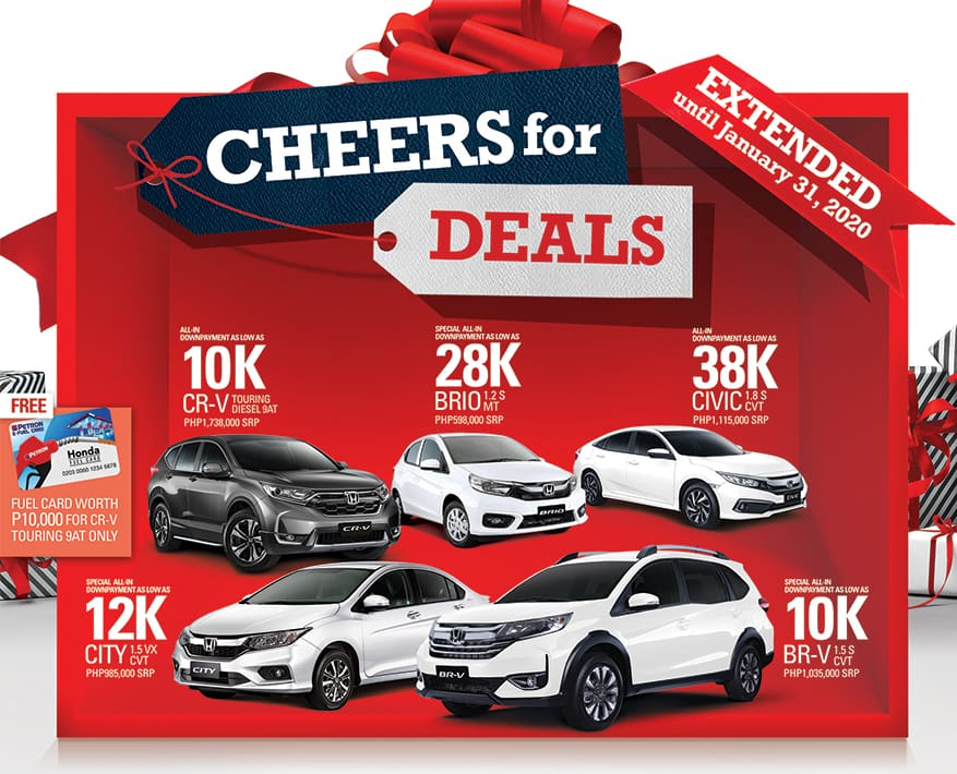 Honda Extends Holiday Promos this January