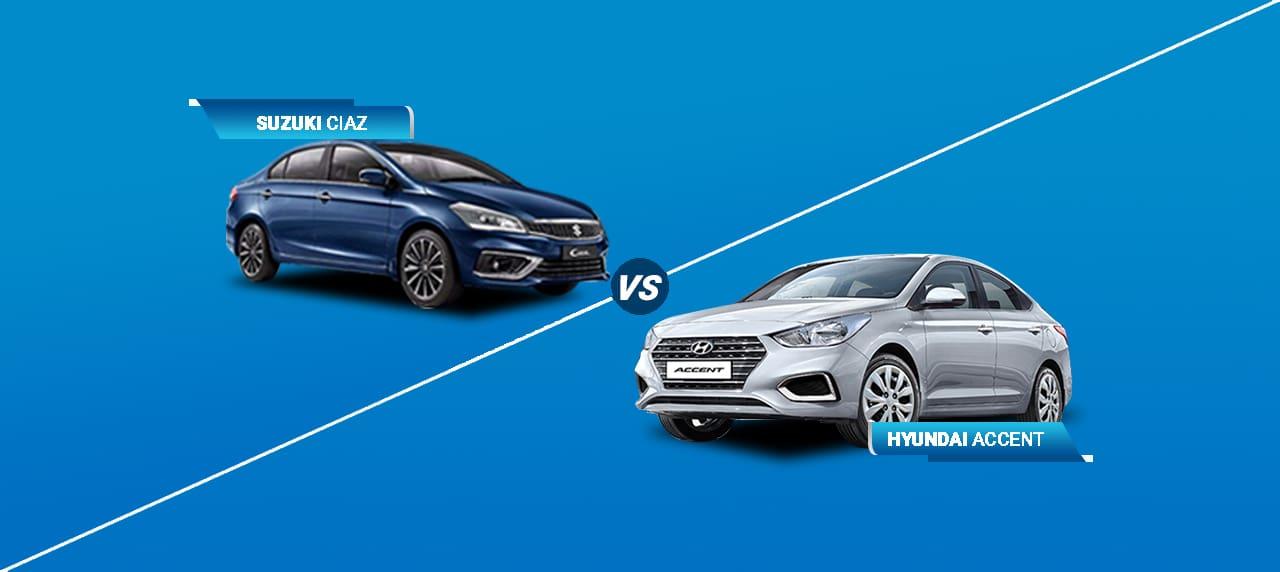 Car Comparison: Suzuki Ciaz vs Hyundai Accent