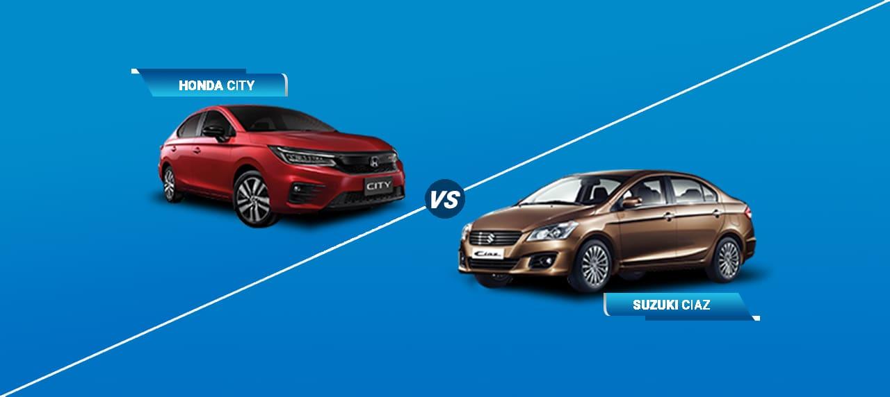 Car Comparison: Suzuki Ciaz vs Honda City