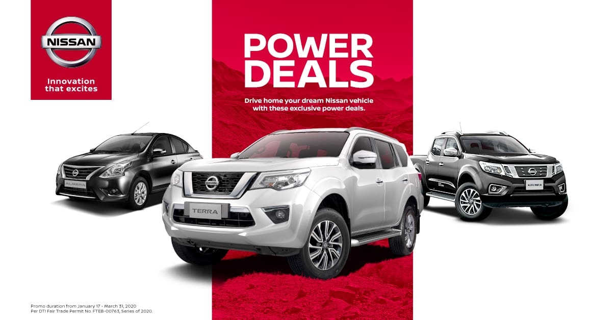 \'Nissan Power Deals\' Offered for 2020 Q1