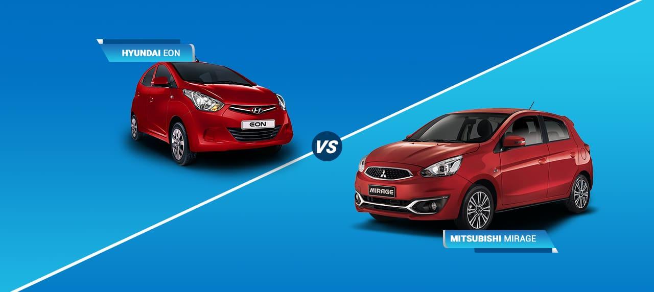 Car Comparison Mitsubishi Mirage vs Hyundai Eon