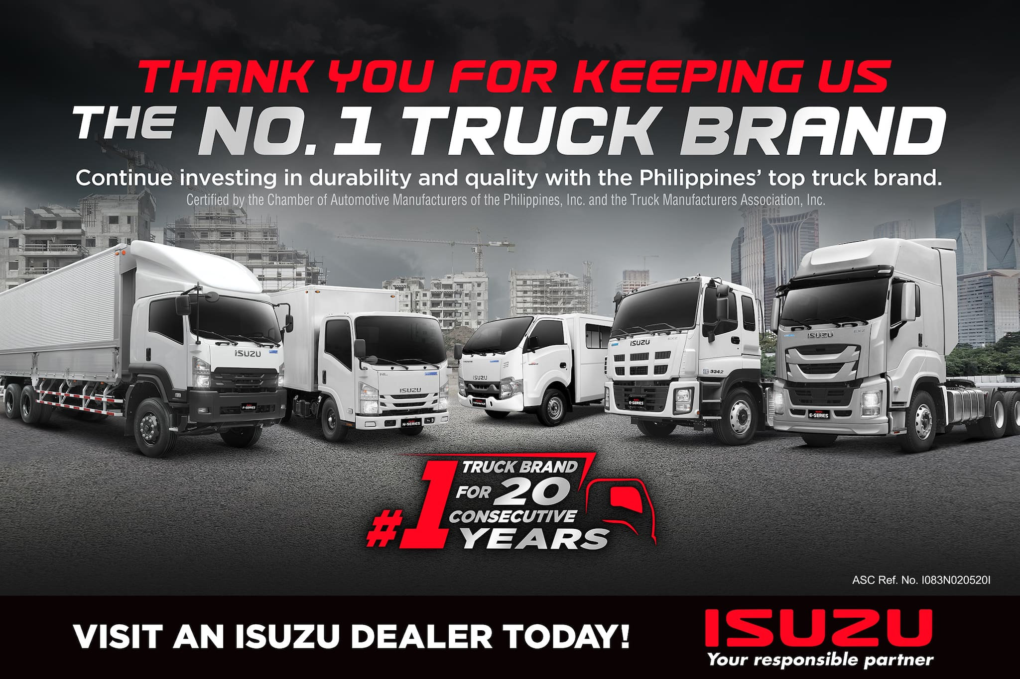 Two-Decade Strong: Isuzu PH is Truck Sales Leader for 20 Years