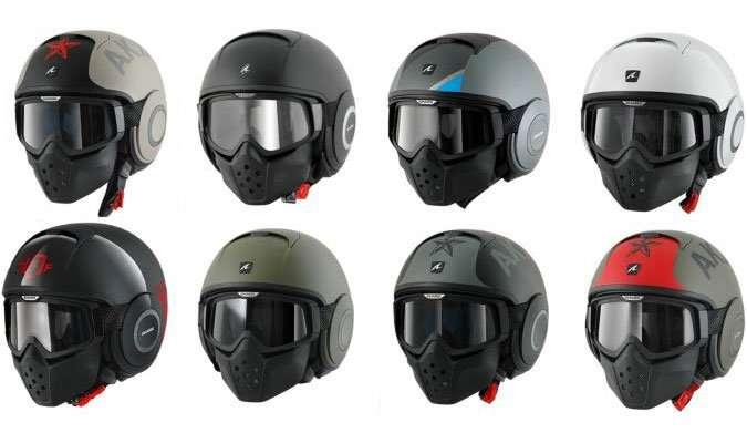Shark Raw Helmet, Helm Bergaya Pilot Jet Tempur