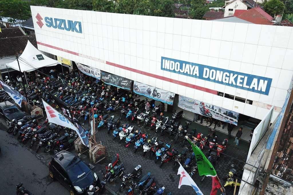 700 Biker Hebohkan Suzuki Saturday Night Ride Yogyakarta
