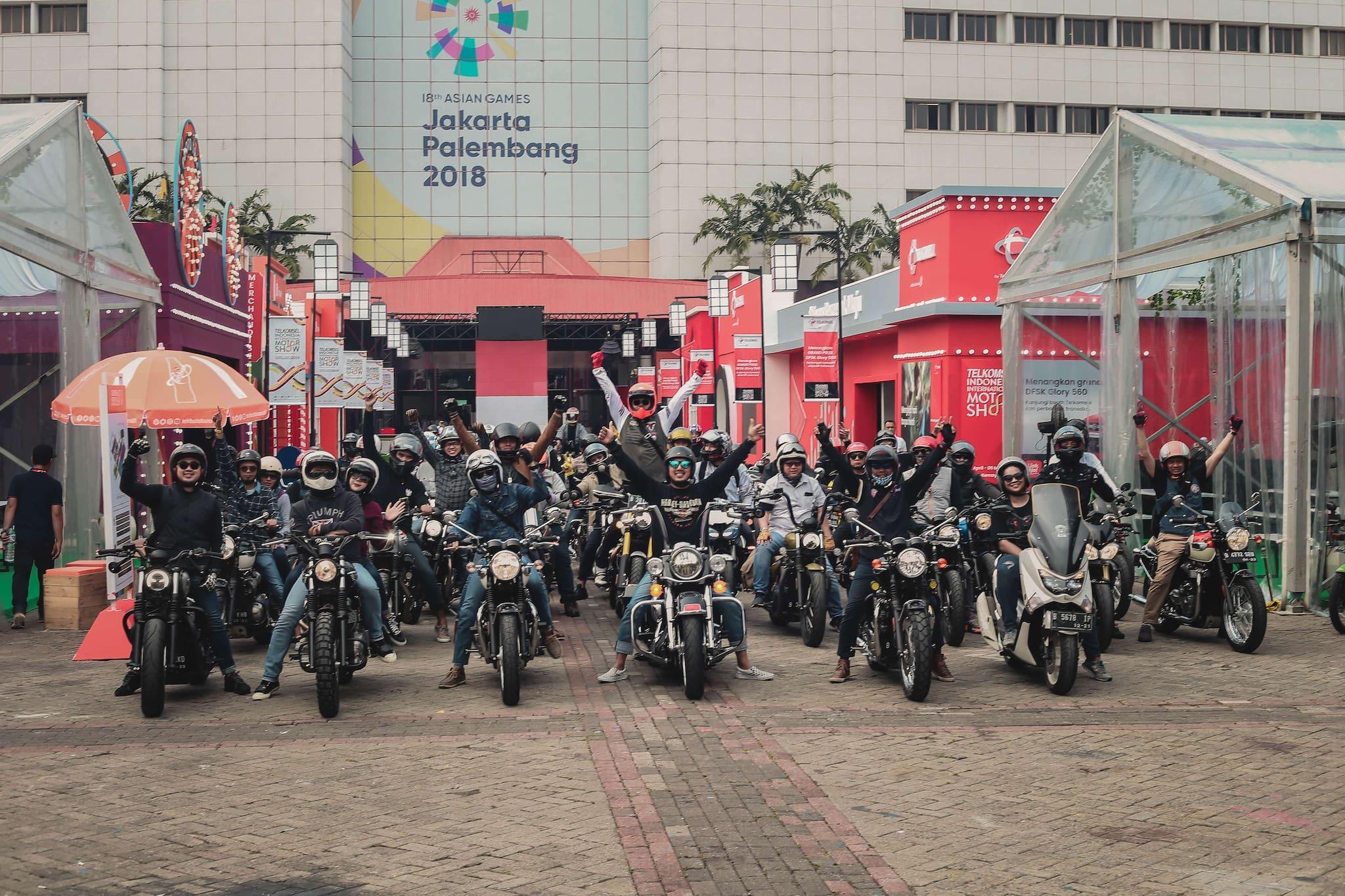 Ratusan Motor Ikuti Motovaganza Sunmori to Telkomsel IIMS 2019