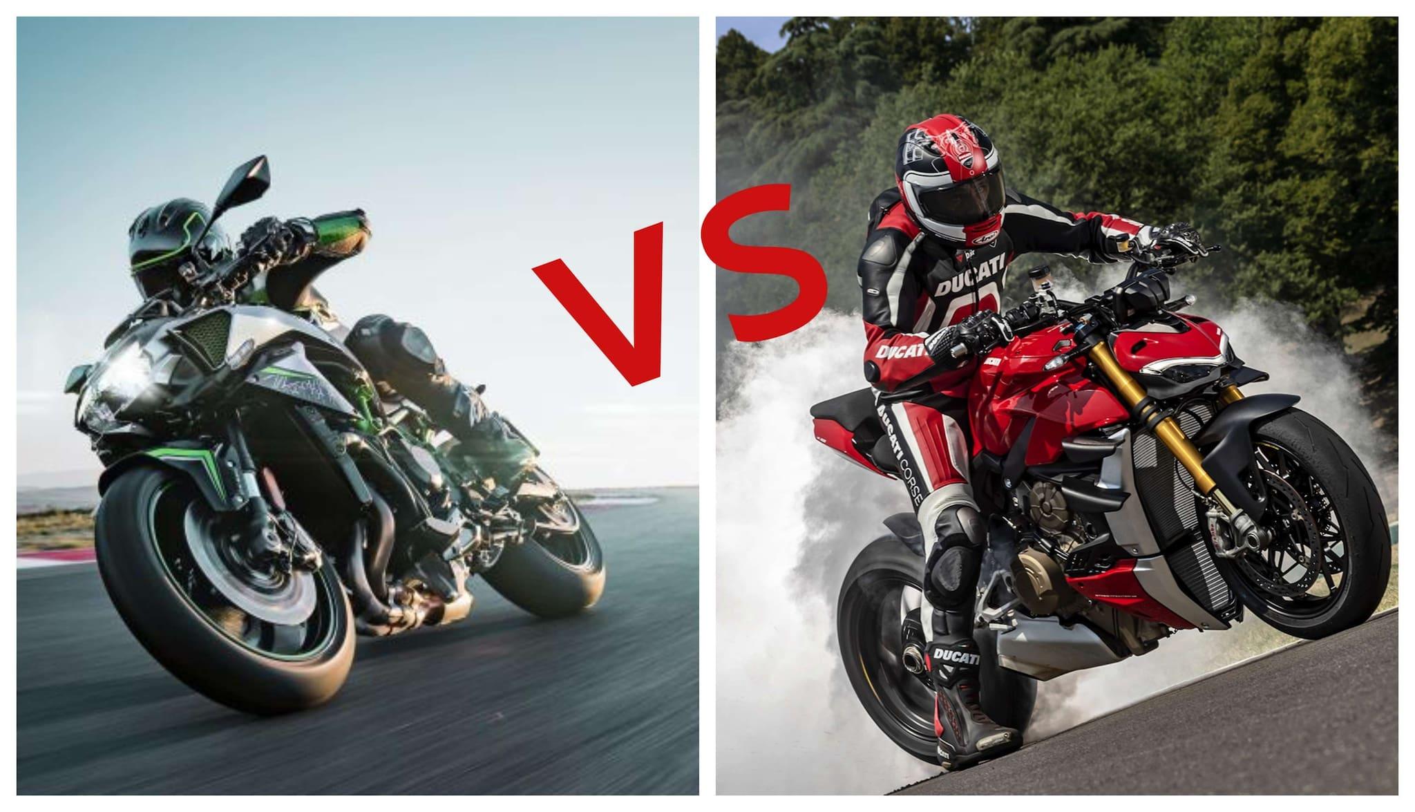 Perbandingan Kawasaki Z H2 VS Ducati Streetfighter V4, Mana yang Terbaik?