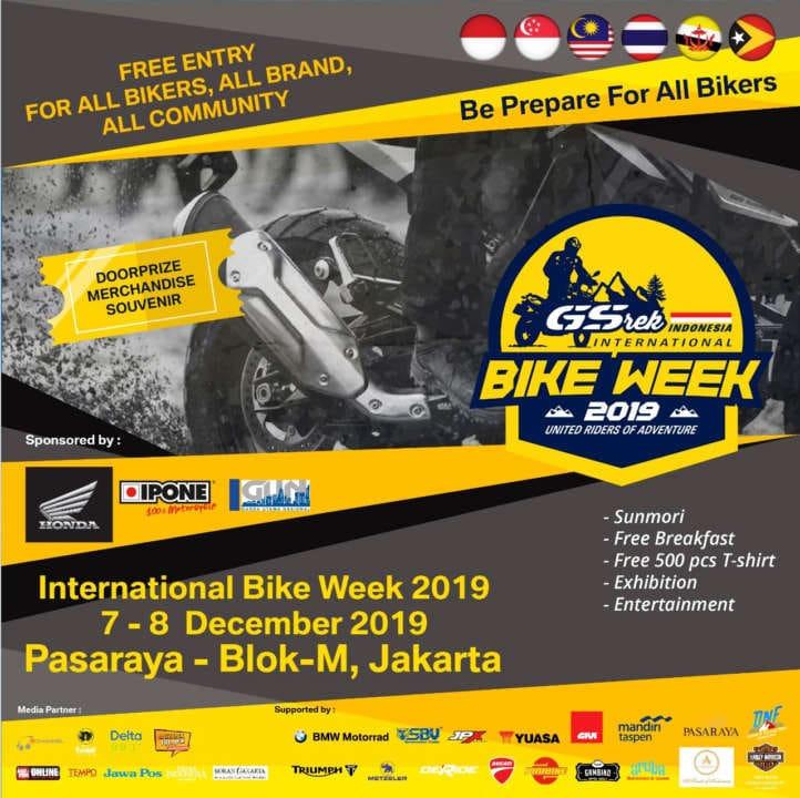 GSrek Bikeweek 2019 Bakal Dimeriahkan Bikers Mancanegara