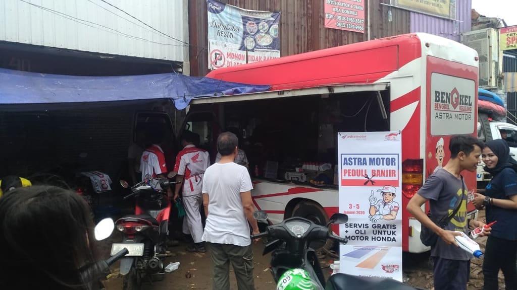AHM Buka Layanan Khusus untuk Sepeda Motor Honda Korban Banjira