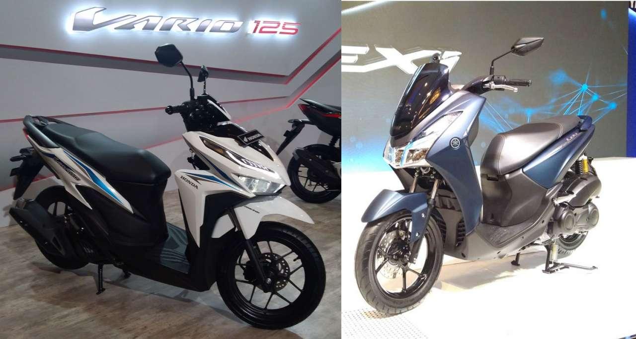 KOMPARASI: Adu Fitur Honda Vario 125 Vs Yamaha Lexi