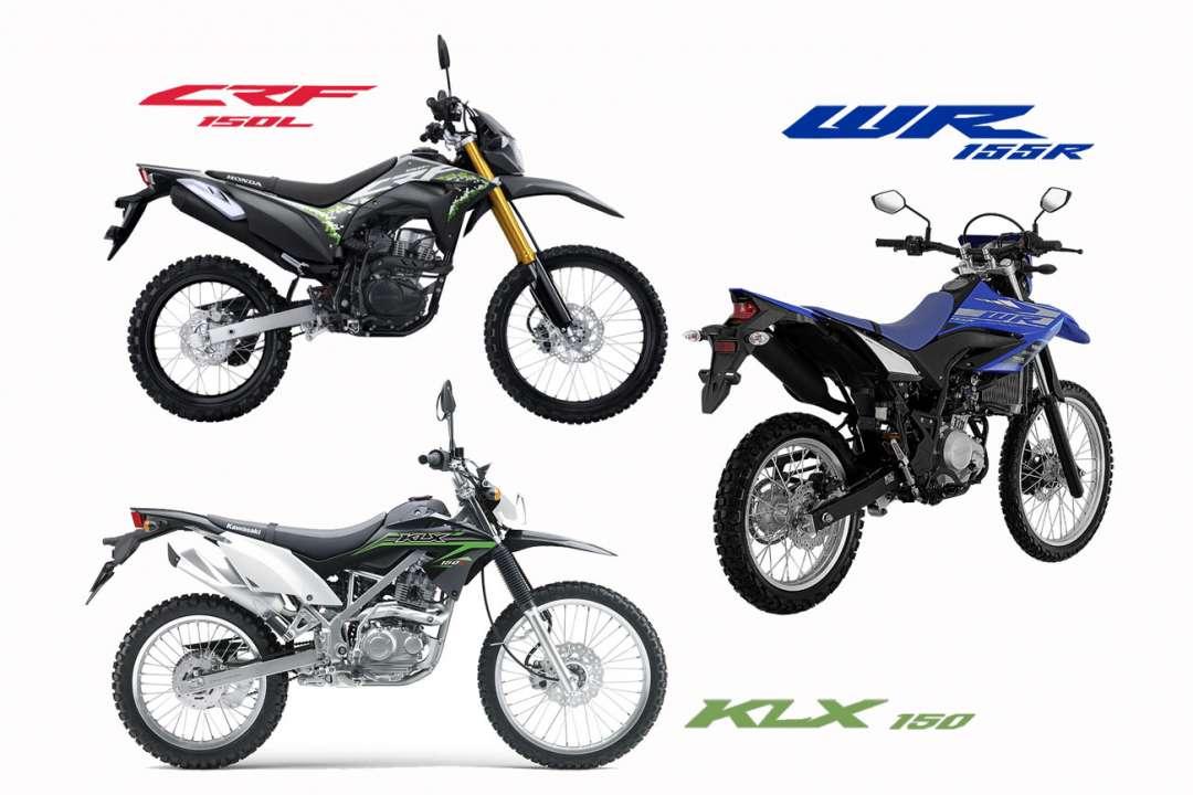 KOMPARASI: Adu Mesin Yamaha WR 155 R Vs CRF150L Vs KLX 150