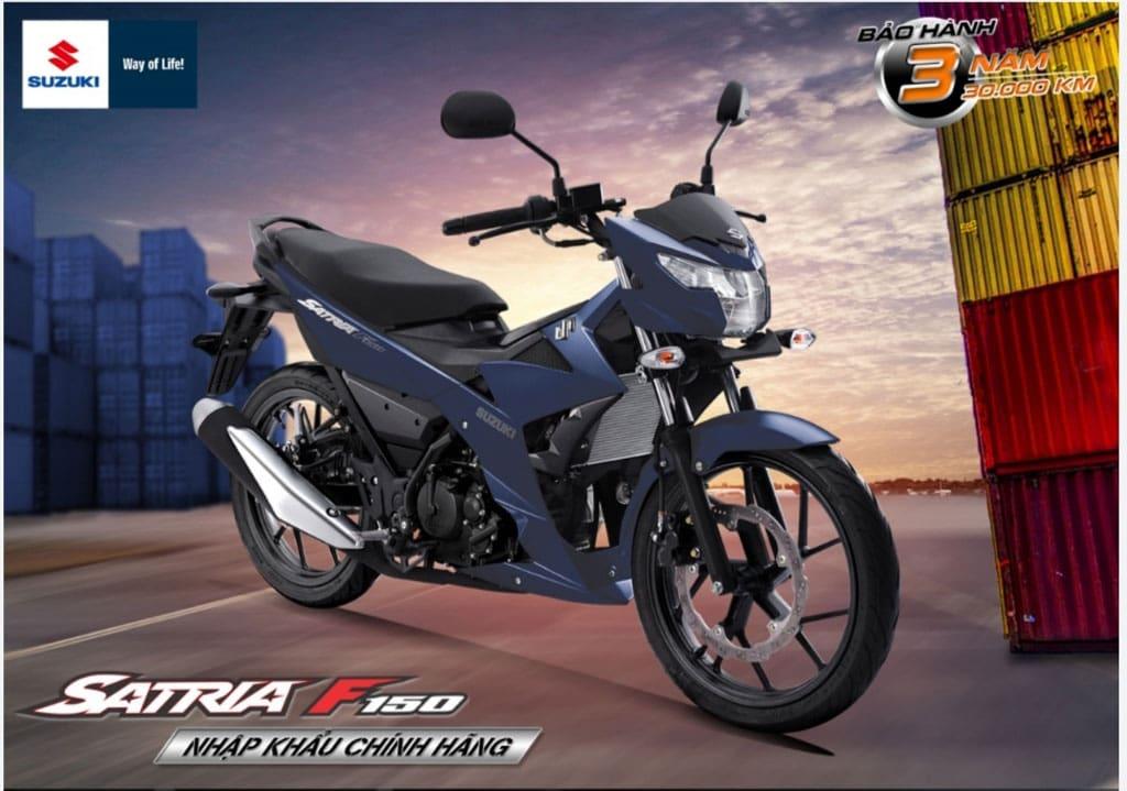 Suzuki Satria 150 Kini Dimpor Utuh ke Vietnam