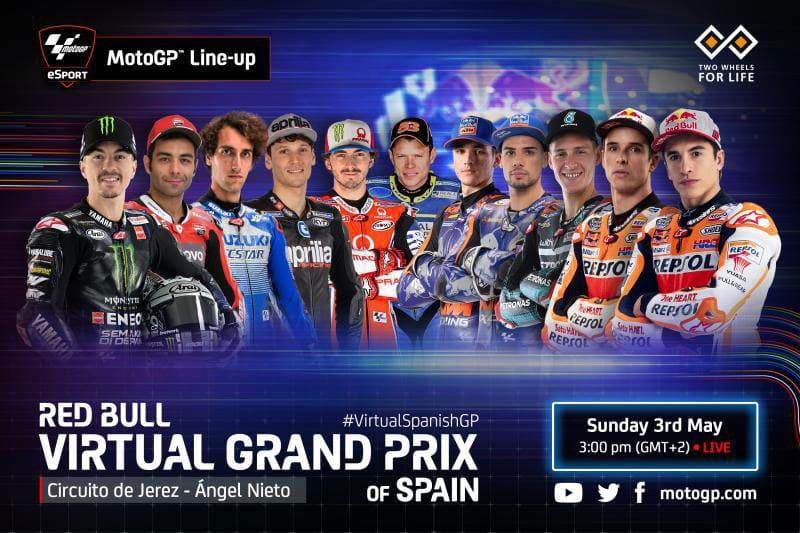 MotoGP: Virtual GP Jerez Diikuti 3 Kelas, Rossi Absen