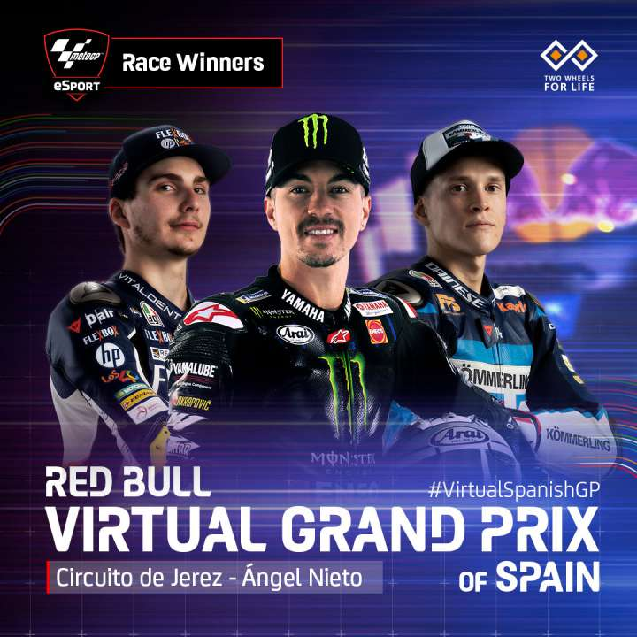 MotoGP: Maverick Vinales Cetak Kemenangan di Virtual GP Jerez