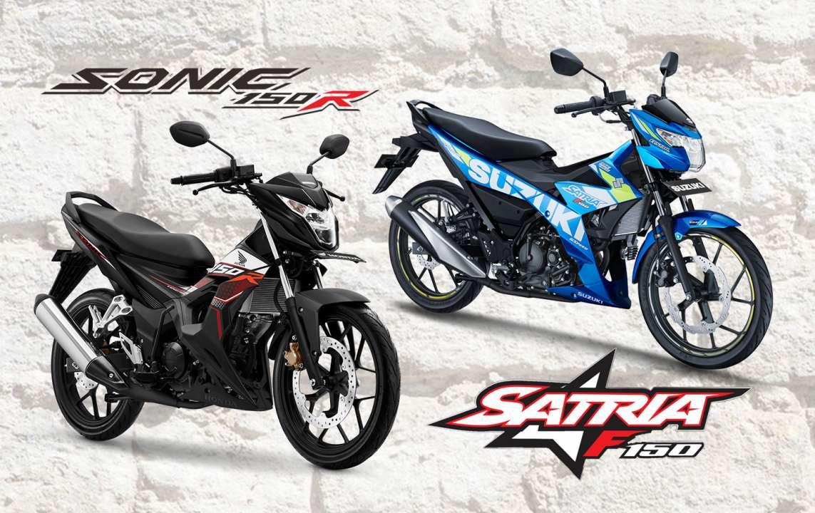 KOMPARASI: Honda Sonic 150R Vs Suzuki Satria F150