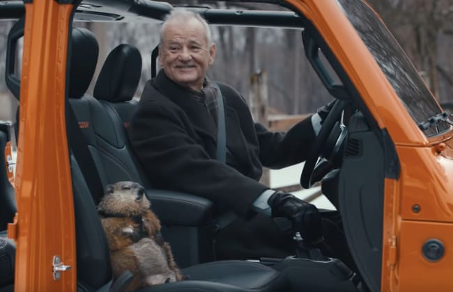 Bill Murray in Groundhog Day commercial
