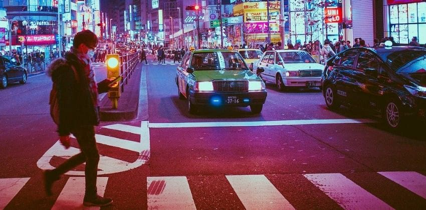 Pedestrian on road