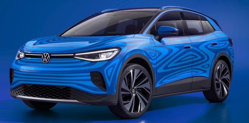 Blue Volkswagen ID4