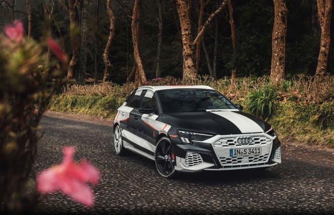 Audi A3 Sportback, angled view
