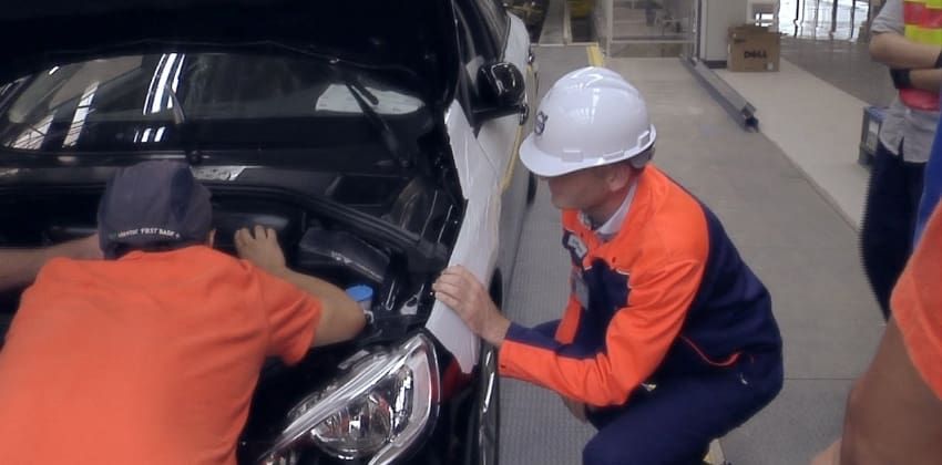 Volvo car plant employees