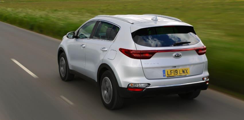 Kia Sportage, rear, white