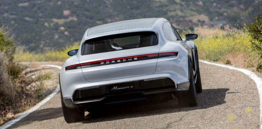 Porsche Mission E Cross Turismo rear