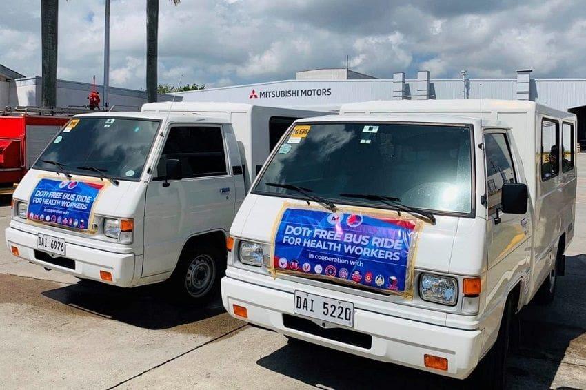 Mitsubishi PH Loans L300 Vans to Gov't Covid-19 Response Units