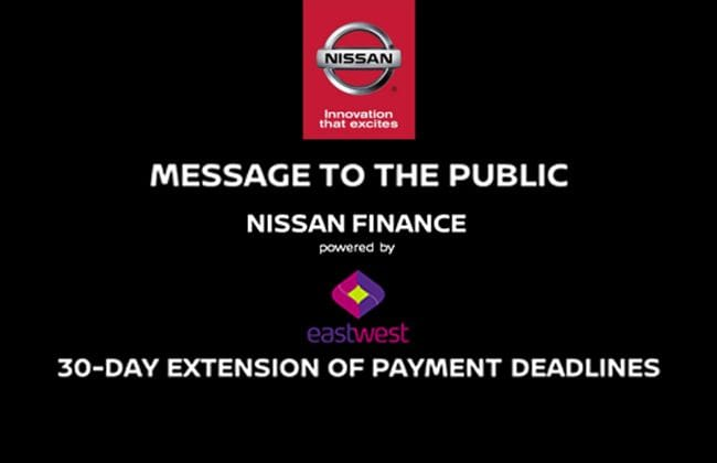 Nissan Philippines Gives Customers 30-Day Grace Period