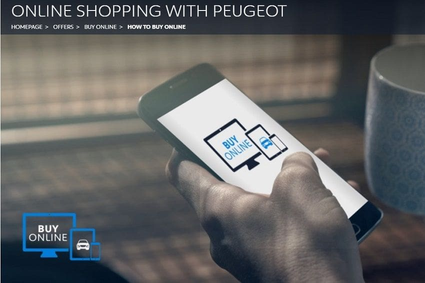 Peugeot Online Shopping Lets You Buy a Car with a Few Clicks