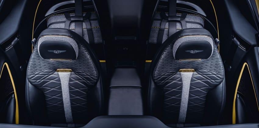 Bentley Bacalar cockpit overhead