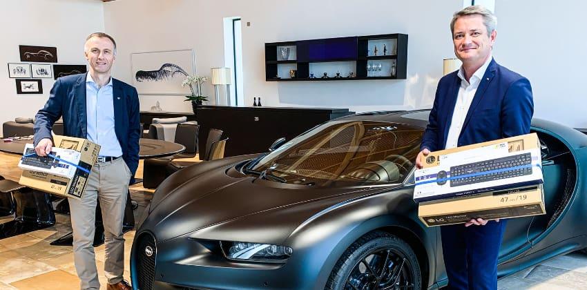 Bugatti donates computers to schools