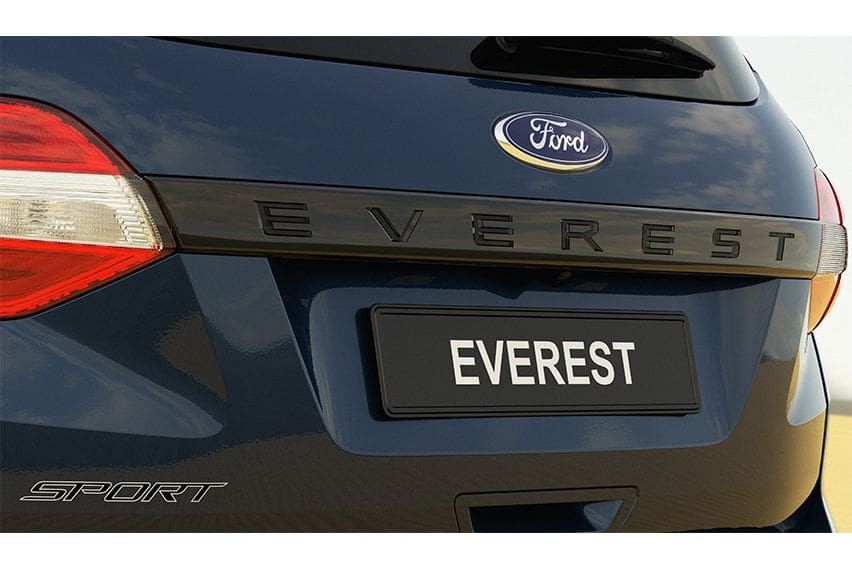 Ford Everest Sport liftgate