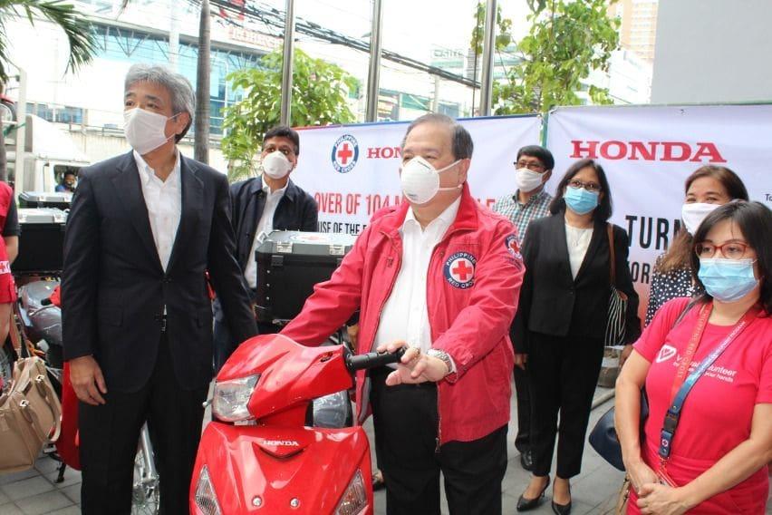 Honda donates motorcycles to PRC