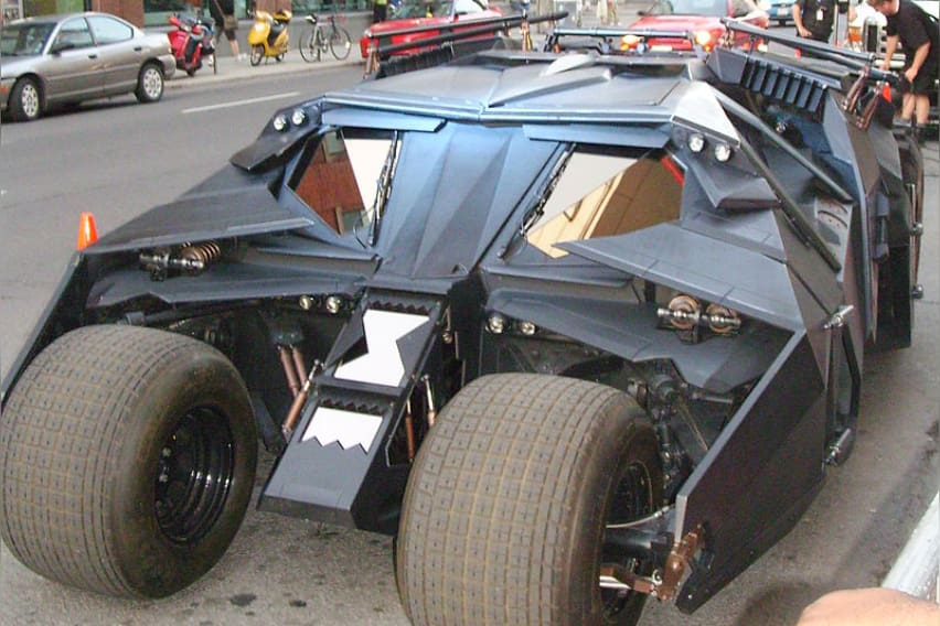 """The """"Tumbler"""" Batmobile from The Dark Knight Trilogy"""