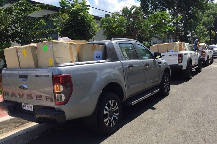 Ford PH hands over 10,000 protective face shields to DOH, DTI