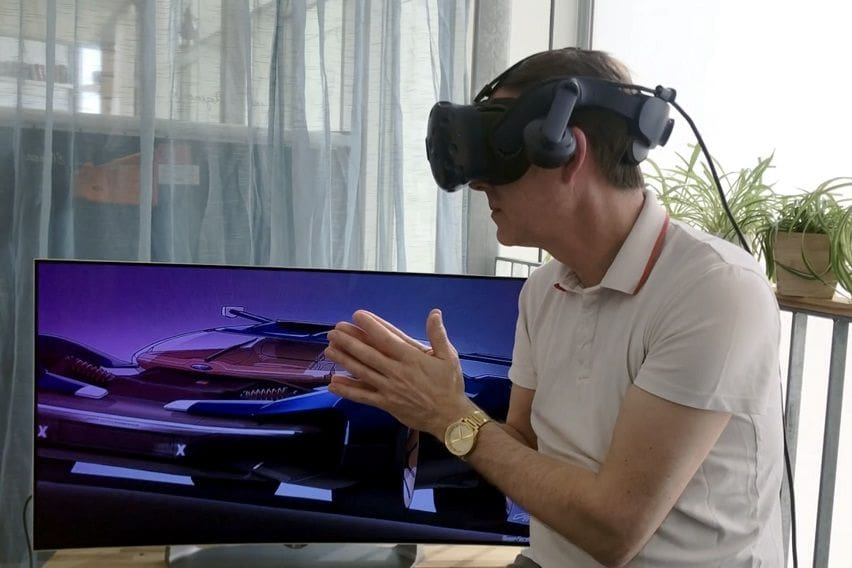 Ford designers work in VR