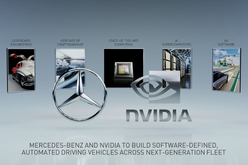 Mercedes Benz and NVIDIA team up