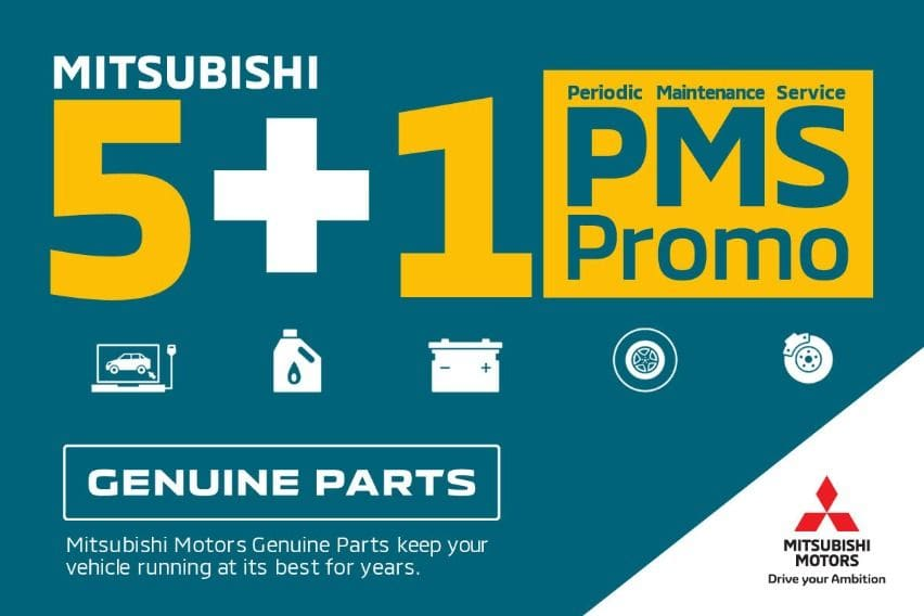 Get your 6th PMS for FREE with Mitsubishi's latest promo