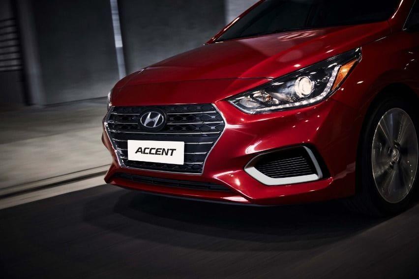 Hyundai Accent front fascia