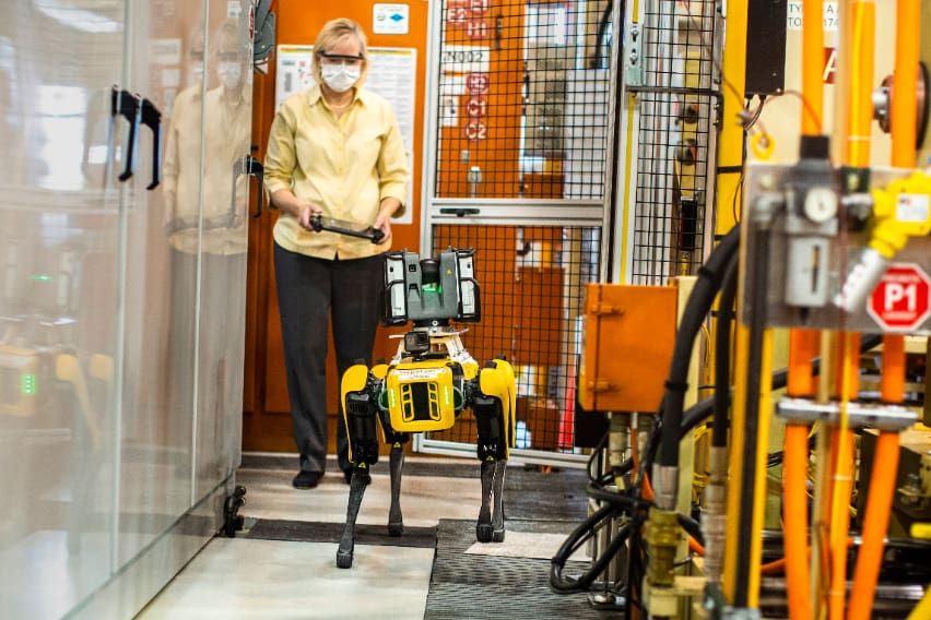 Ford employs robot hounds for plant layout scanning duties