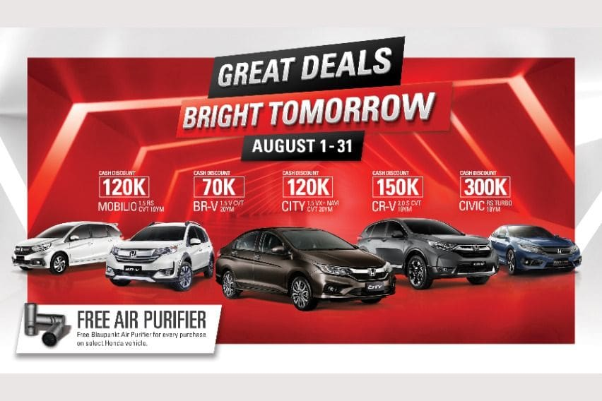 Get a Honda Civic RS Turbo with a P300k cash discount this August