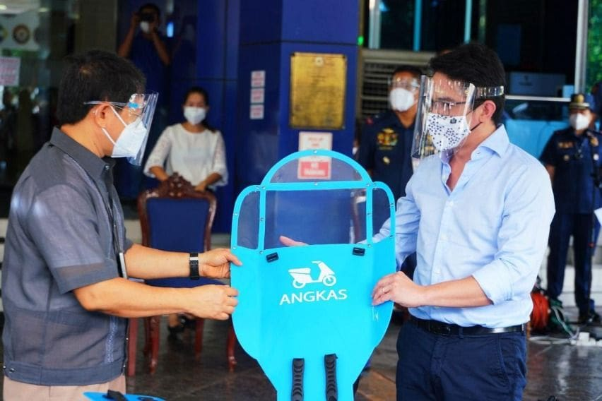 Angkas provides free rides, shields to medical workers