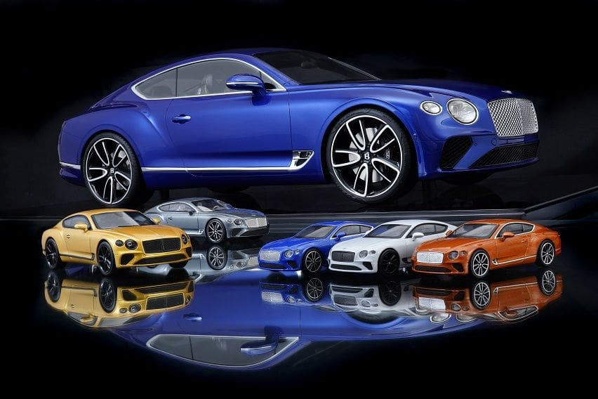 Bentley entices collectors with new bespoke Continental GT scale model