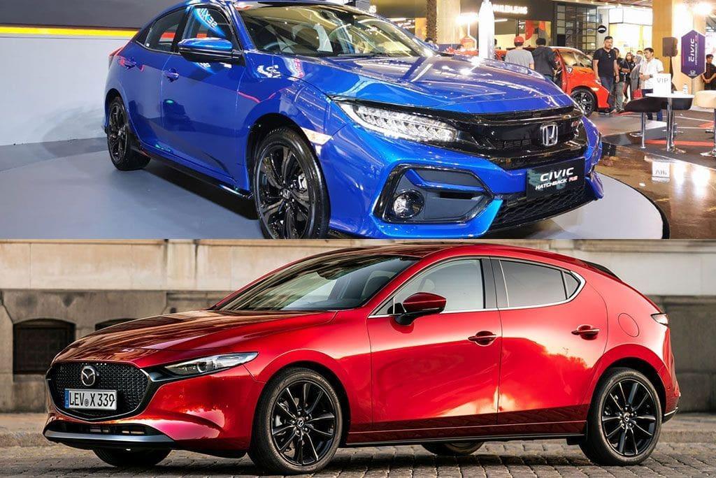 KOMPARASI: Tarung Dua Hatchback, Honda Civic RS Vs Mazda3