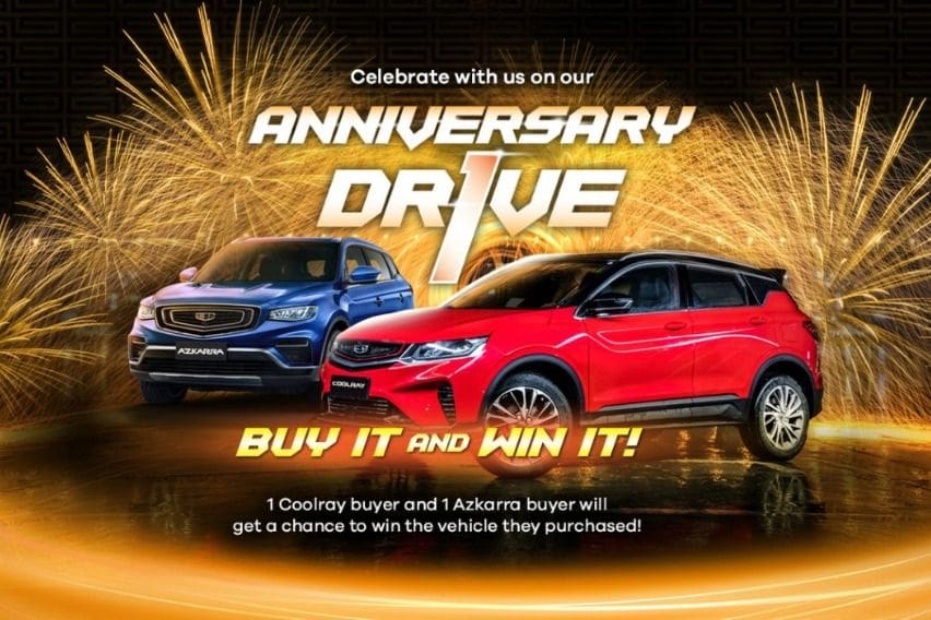 Geely anniversary promo