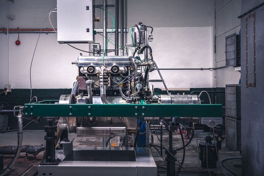 Bentley showcases new replica blower engine during testing
