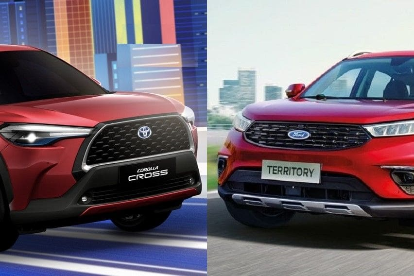 Car comparo: Toyota Corolla Cross vs Ford Territory
